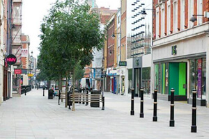 Pavements At Worcester City Centre