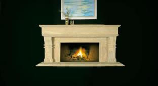 Honed Sandstone Fireplace