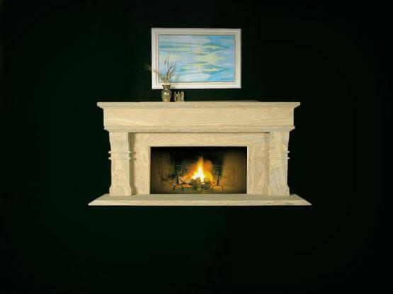 Honed Sandstone Fireplace