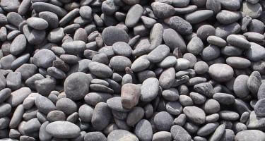 Black Pebbles Blowup Stone Craft