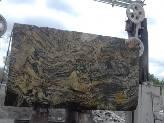 Carbon Gold Granite