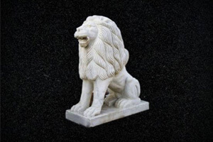 Stone Craft - White Tiger Sculpture