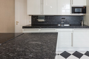 Black Natural Stone For Seamless Kitchen Countertops