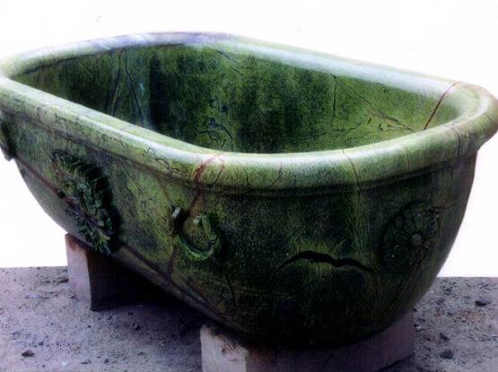 Rain Forest Green Marble Sink