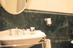 Emerald Green Marble For Rich Looking Bathroom