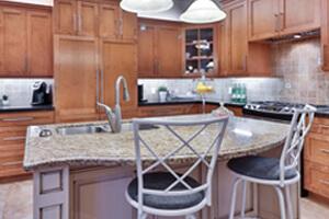 Shiva Gold Granite Installed in Kitchen Countertops