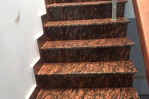 Tiger Red Granite Staircase