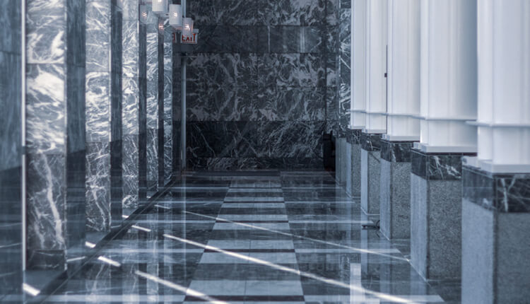Luxurious And Sealed Marble Flooring Preventing Cracks