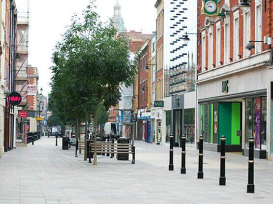 Pavements at City Centre