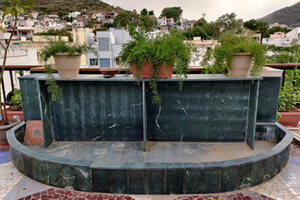 Use of Green Marble in The Terrace Area