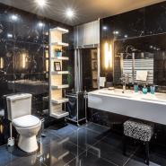 Luxurious Natural Stone Bathroom Tiles Installation