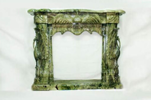 Elegant Green Marble Fireplace To Enhance Interior Aesthetics