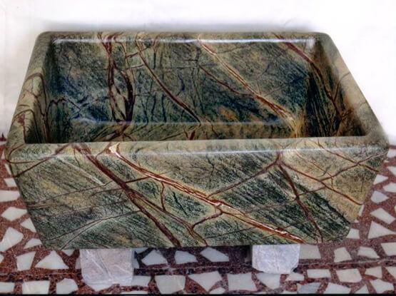 Rain Forest Brown Marble Sink