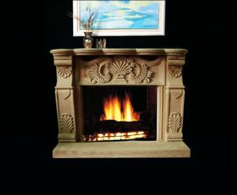 Carved Sandstone Fireplace