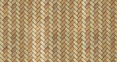 Bamboo Weave Textured Mosaic