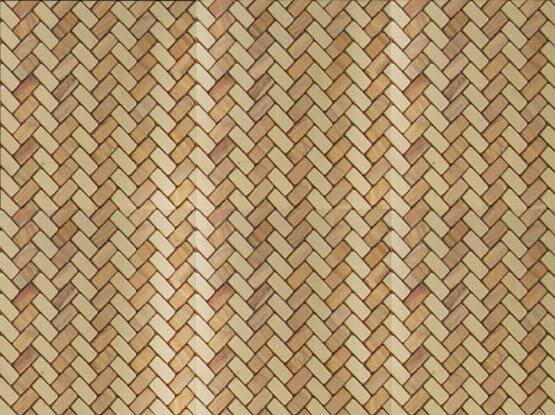 Bamboo Weave Textured Mosaic