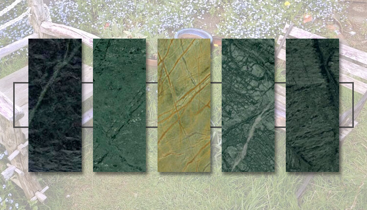 5 Shades Of Green Marble - For A Heavenly Green Garden