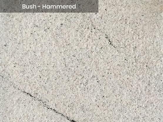Imperial White Granite Bush-Hammered