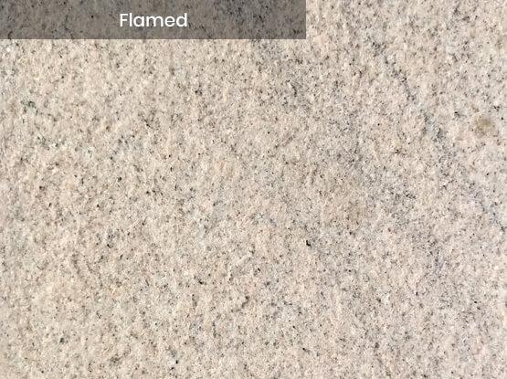 Imperial White Granite Flamed Finish