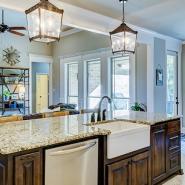 Elegant White Granite Interior Setup For Calm Ambience