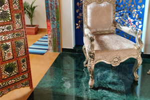 Forest Green Marble Flooring Bringing Royalty