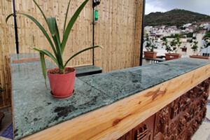 Forest Green Marble For Terrace Tabletop