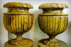 Accomplish Your Home Decoration With Carved Planters