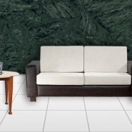 Stylish And Trendy Interior With Green Marble