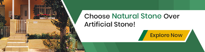Natural Stone Over Artificial Stone