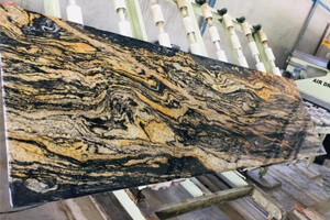 Carbon Gold Granite For Quirky And Funky Accent Wall