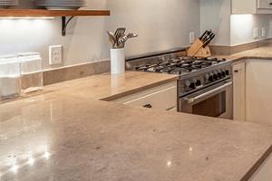 Graceful Imperial White Granite Kitchen Countertops
