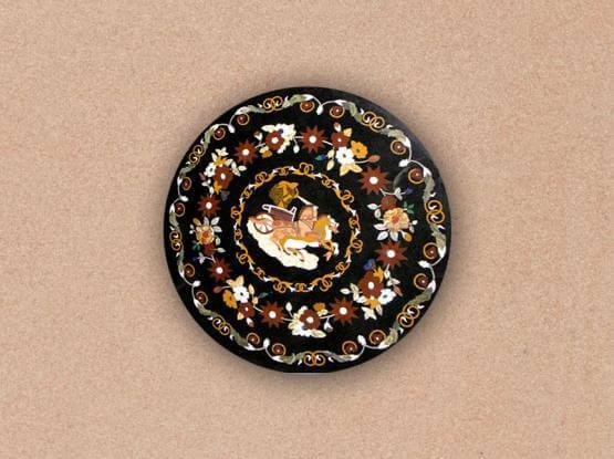 Antique Floral Designed Tabletop