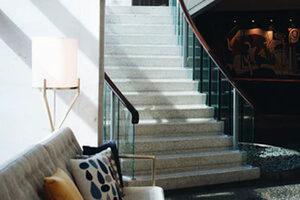 Imperial White Granite Staircase For A Luxurious Finish